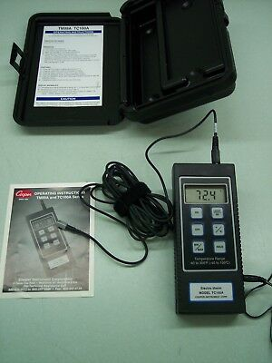Cooper Instruments Electro-Therm Digital Thermometer Model Tc100A With Case Book