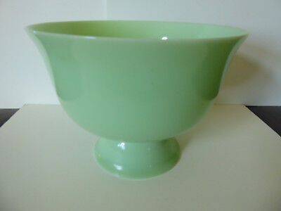 Jadeite Green Glass Large Footed Bowl MINT CONDITION