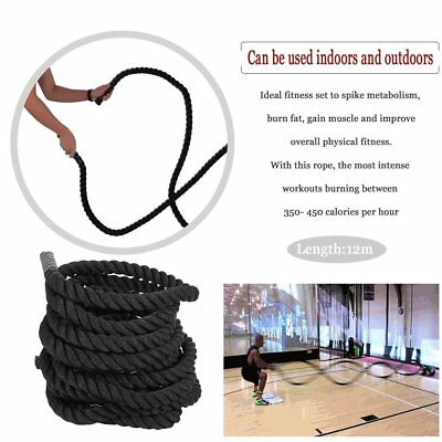 Standard 50mm Battle Rope Fitness System Exercise Training Muscular Enhancing SQ