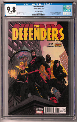 Defenders #1 CGC 9.8 (Aug 2017, Marvel) Stan Lee Box variant, Andrazofsky cover