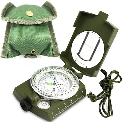 (Green) - Compass, Waterproof Hiking Military Navigation Compass with Glow in