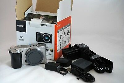 Sony Alpha - a6000 Mirrorless Digital Camera Body, Silver 24.3 M/P