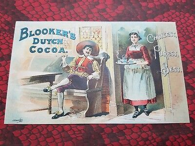 BLOOKER'S DUTCH COCOA Victorian Trade Card FRANCO-AMERICAN FOOD CO NY New York