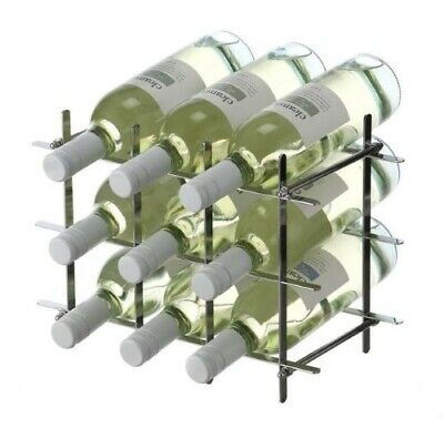 Tabletop Wine Rack Bottle Holder Organiser Display Carrier 6 Standard Bottle