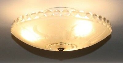 Antique frosted glass 16 inch flush mount Art Deco light fixture chandelier