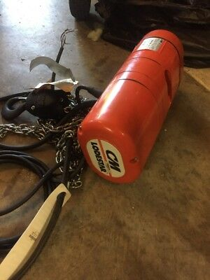 CM Loadstar Model H,1 Ton Electric Chain Hoist (3 Ph 208/240,440/480 Volts)