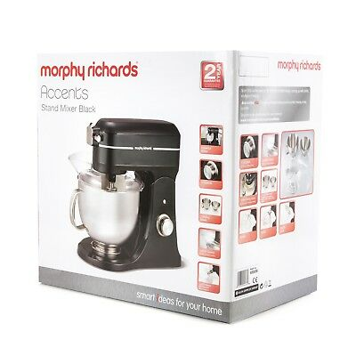 BRAND NEW  Morphy Richards 400008 Professional Diecast Stand Mixer BLACK