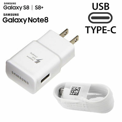 Original Samsung Galaxy S8 S8 plus Note 8 Adaptive Fast OEM Wall Charger +Type-C