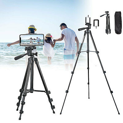 Universal Adjustable Camera Tripod Stand + Cell Phone Holder for iPhone Samsung