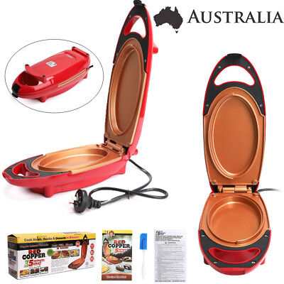 Red Copper 5-Minute Chef - Omelette Pan The Non-stick Omlette Maker Cooker AU