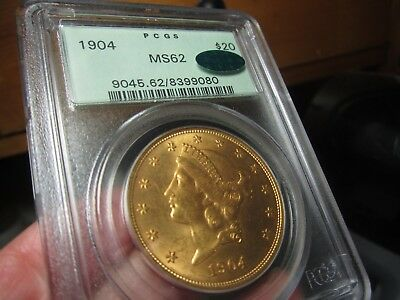 Nice Looking Liberty Head Double Eagle 1904   Ms-62  Pcgs & Cac  Ogh