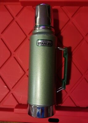 Stanley Coffee Thermos Vacuum Bottle Stainless Steel 1.1 Quart Travel