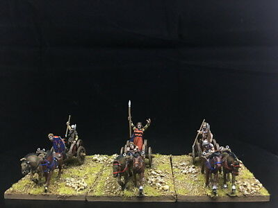 28mm Ancient WAB DPS Painted Gallic & Celtic Chariots GH815