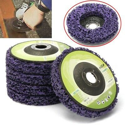 Purple Poly Strip Disc Wheel Paint Rust Removal Clean For Angle Grinder 100mm DT