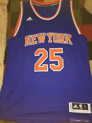 Mens Derrick Rose New York Knicks Adidas Swingman Size Large 100% Authentic b3ea05e63