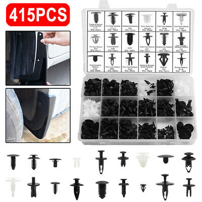 415Pcs Car Body Plastic Push Pin Rivet Fasteners Trim Moulding Clip Screwdriver