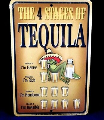 Signs 4 Fun S4CBR15 Tequila-4 Stages Small Parking Sign