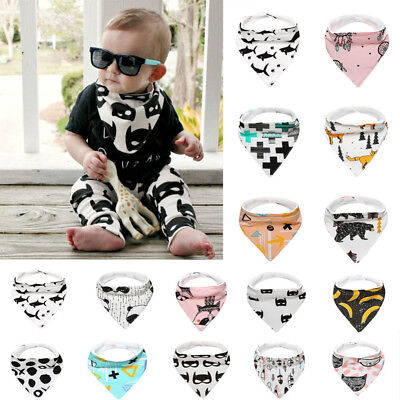 Kids Baby Feeding Head Scarf Towel Bib Boy Girl Bandana Saliva Triangle Towel A
