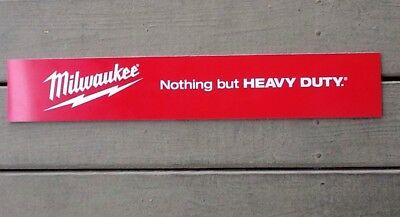 """Milwaukee Tools Nothing But Heavy Duty Plastic Sign 23.5""""x4"""" Display w/ Adhesive"""