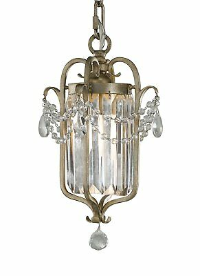 Feiss F2474/1GS Gianna Collection 1-Light Mini Duo Chandelier, Gilded Silver Fin