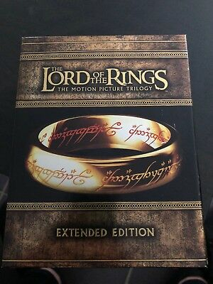 THE LORD OF THE RINGS Trilogy Extended Edition (Region B) Blu-ray 15 Disc Set