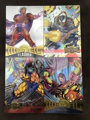 1995 Fleer Marvel Masterpiece Uncut Unnumbered Cards Promo Sheet