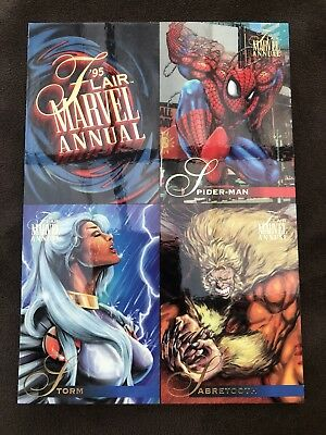 1995 Fleer Flair Marvel Annual Masterpiece Uncut Unnumbered Cards Promo Sheet