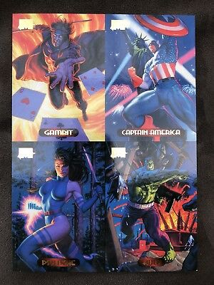 1994 Fleer Ultra X-Men Marvel Masterpiece Uncut Unnumbered Cards Promo Sheet