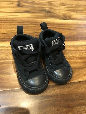 Toddler Kids Converse size 6 High Top Shoes classic All Star black Chuck Taylor