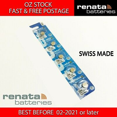 5x RENATA SR621SW 364 1.55v Button Coin Cell Silver Oxide Battery SWISS MADE