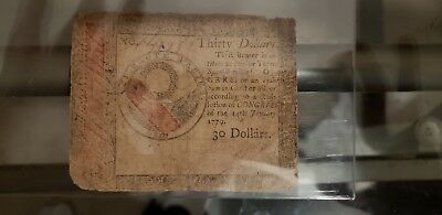 Continental Currency January 14, 1779 $30 Very Good condition for its age.