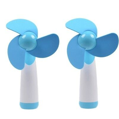 (Blue) - Blue Personal Hand-held/Portable Battery Operated Mini Air Fan for