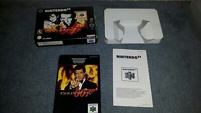 N64 Goldeneye box with instruction manual NO GAME INCLUDED