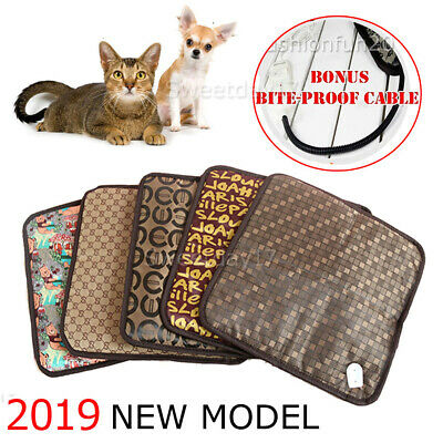 NEW Model Pet Electric Heat Heated Heating Heater Pad Mat Blanket Bed Dog Cat