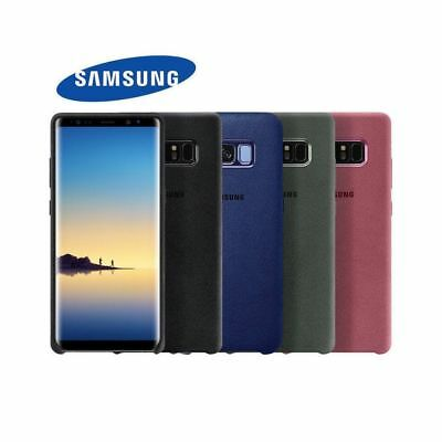 GENUINE Samsung Galaxy S9 S8 Plus Note 8  Alcantara Suede Leather Case Cover UK