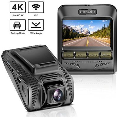 "TryAce OnDash Cameras Dash 4K UHD WiFi Car Dashcam 2.4"" LCD 170 Wide Angle With"