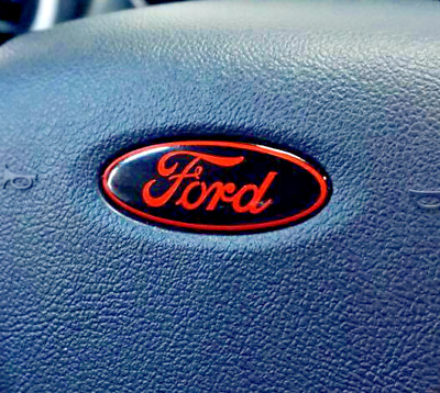 Ford Steering Wheel air bag oval emblem OVERLAY Vinyl Decal Sticker