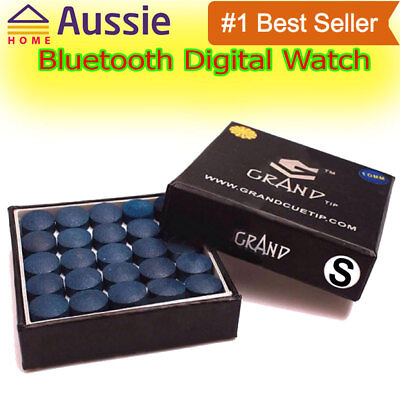 Grand Snooker Cue Tips 10mm Soft Box Of 50 Oak Pressed Leather Blue Color