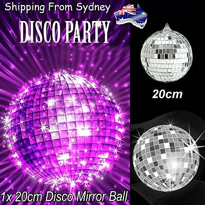 20cm Disco Mirror Ball DJ Light Silver Dance Party Club Stage Lighting Effect AU