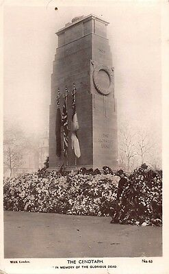 """London Whitehall The Cenotaph """"In Memory of the Glorious Dead"""" Real Photograph"""