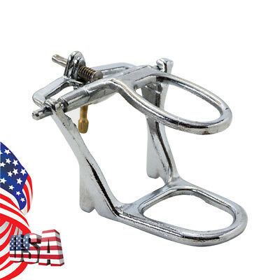 US Dentist Dental Lab Full Low Arch Denture Articulator Chrome Plated Adjustable