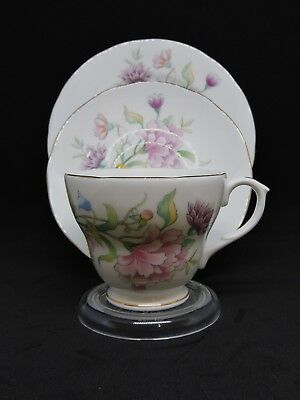 Duchess Bone Chine Cup, Saucer and Plate - Delicate Floral Pattern- circa 1960's