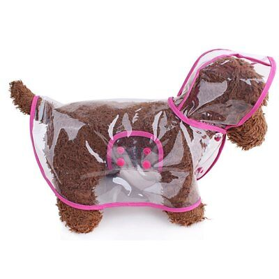 PET Dog Raincoat with Hood Transparent Rain Coat for Small Dogs Waterproof