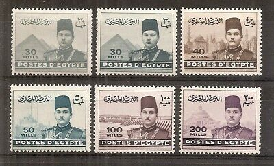 Egypt - 1939 Definitives to 200 mills value - Un-mounted mint