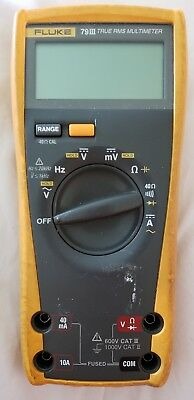 Fluke 79 III True RMS Digital Multi-Meter Multimeter 79III No Probes