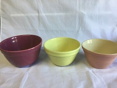 Fowler Kitchen Bowls X2 And Hoffman Kitchen Bowl X1