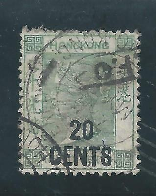 Hong Kong - 1891 QV Definitives - 20 cents overprint on 30 cents - Used
