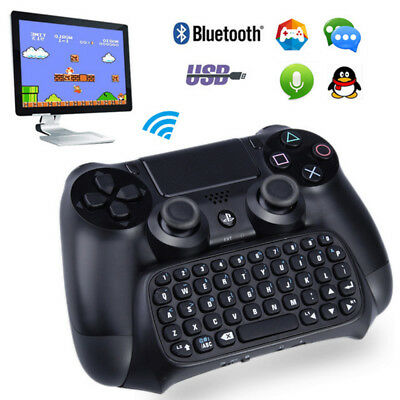 Wireless Bluetooth Mini Video Game Keyboard For Playstation 4 PS4 Controller New
