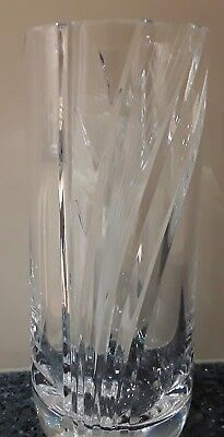 Bohemia Crystal hand Made Vase NIB Made in Czech Republic
