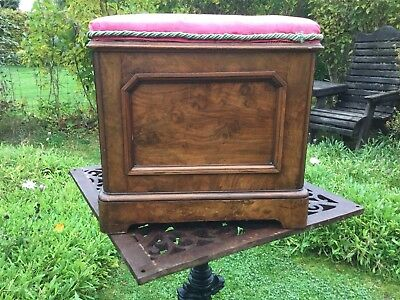 Vintage Antique Walnut Commode / Box / Toilet /potti / Children